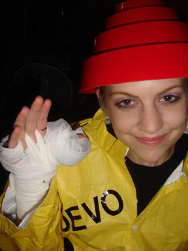 Halloween 2010: Rachel as Injured Bob1
