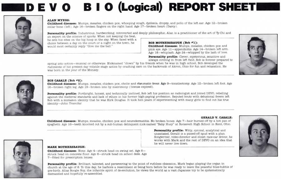 DEVO Bio (Logical) Report Sheet