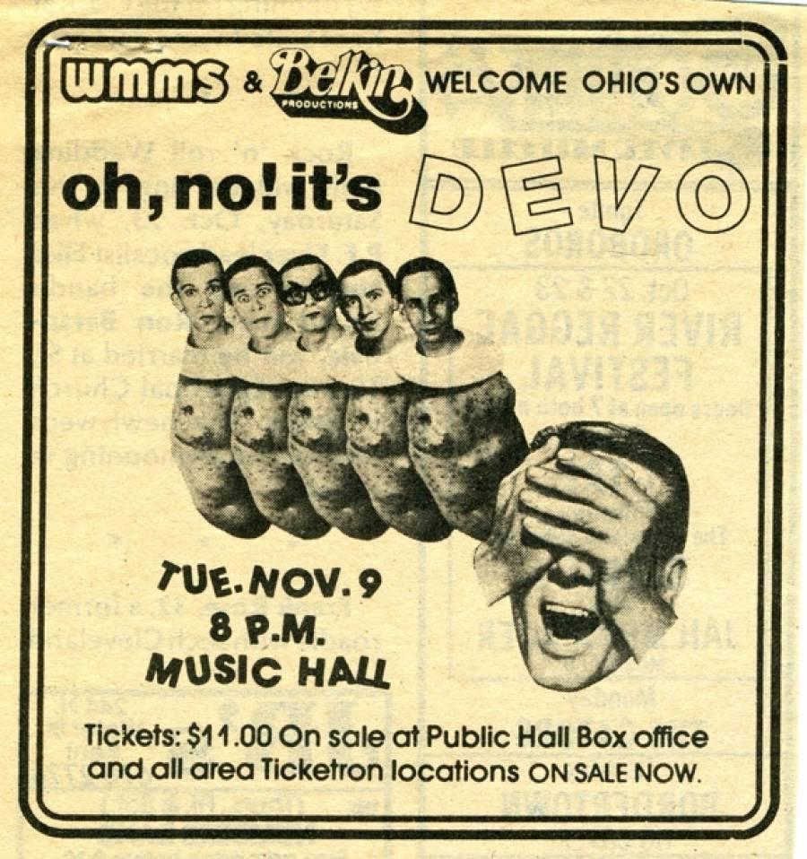 Advert for Nov. 9, 1982 Concert