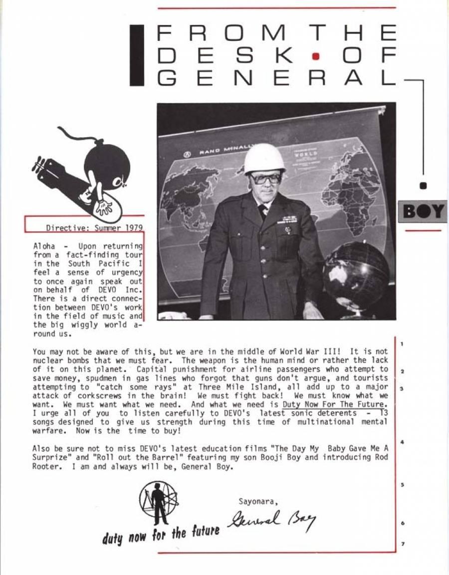 General Boy Letter 1979